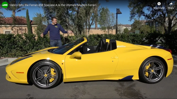 Doug DeMuro Reviews Oloi's Ferrari 458 Speciale A
