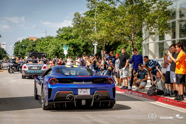 Crowds line the streets to view goldRush Rally cars drive by