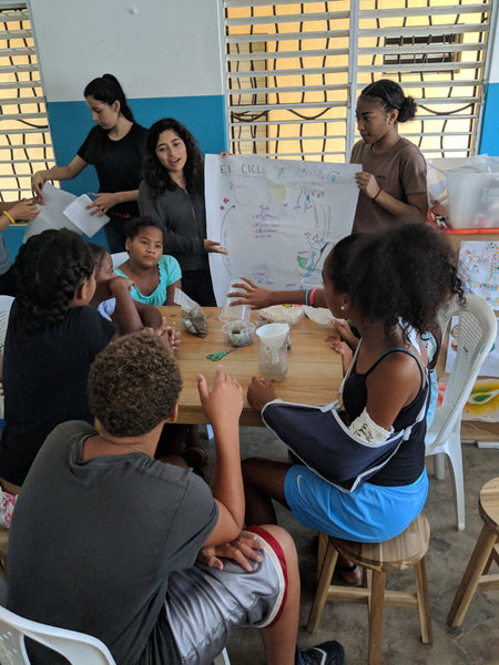 World Without Walls students present a lesson to young children in the Dominican Republic