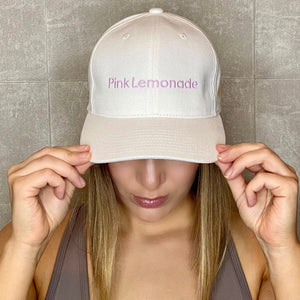 Embroidered Pink Lemonade Cap