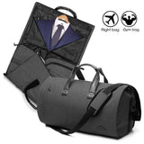 ELLEWIN 2 In 1 Garment Bag With Shoulder Strap, Convertible Suit Travel Duffel Bag Carry On Bag With Luggage Strap
