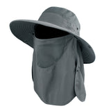 Wide Brim Fishing Hat with Face and Neck Face Flap for Sun Protection,S/M