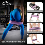 ELLEWIN Resistance Bands for Legs and Butt, 3 Levels Booty Bands Anti-Slip Roll for Women