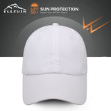 ELLEWIN Classic  Plain Quick Dry Baseball Cap UPF 50+Adjustable Unstructured 6 Panel Dad Hats