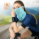 ELLEWIN Cooling Neck Gaiter with Ear Loops - UPF50+ UV Protection Face Scarf Cover Balaclava Bandana Face Mask
