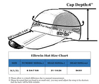 ELLEWIN Fishing Hat with Face Neck Cover Foldable 3-Panel Bill Baseball Cap UPF 50+