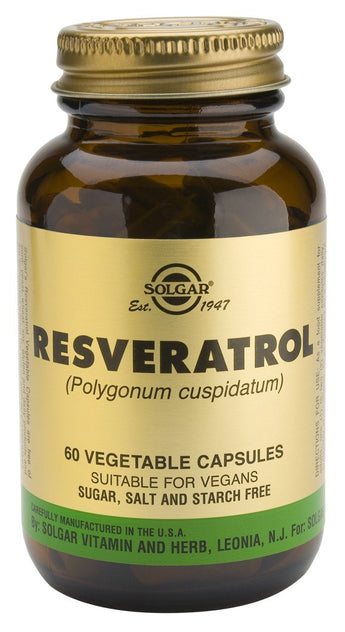 Solgar Resveratrol 100 mg Vegetable 60 Cápsulas