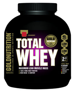 Gold Nutrition Total Whey Morango 1kg