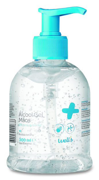 Álcool Gel Wells 300ml