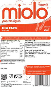 Pão Low Carb Miolo Bio 400G