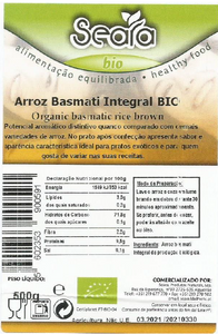 Arroz Basmático Integral Seara BIO 500gr