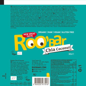 Barra Raw Côco e Chia Roo Bar BIO 30gr