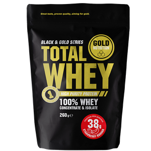 Gold Nutrition Total Whwy Strawberry Banana 260gr