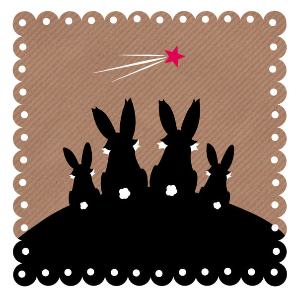 Rabbit Family Art Card