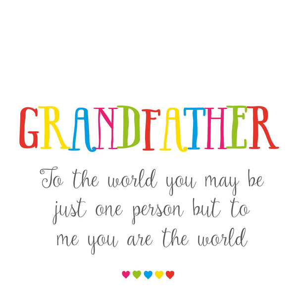Grandfather World To Me Card