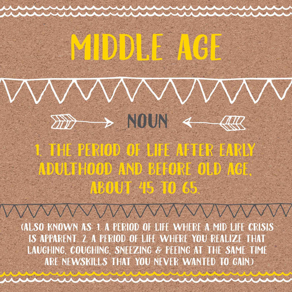 Middle Age Definition Card