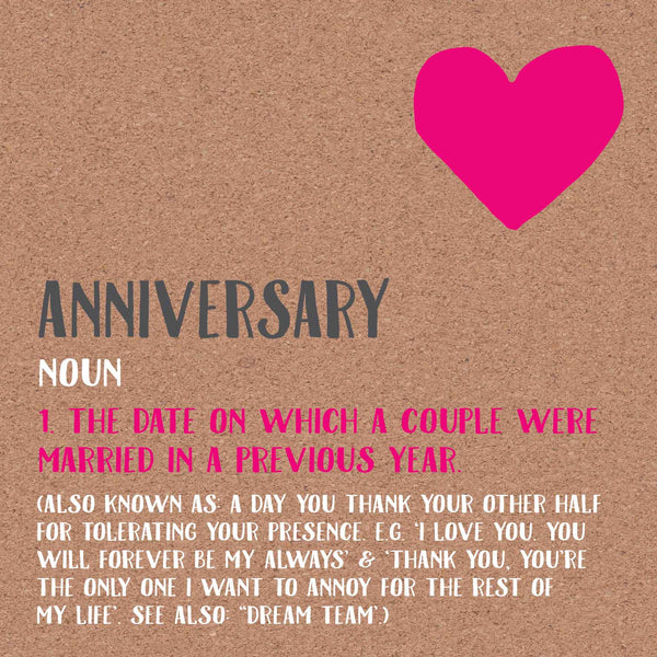 Anniversary Definition Card