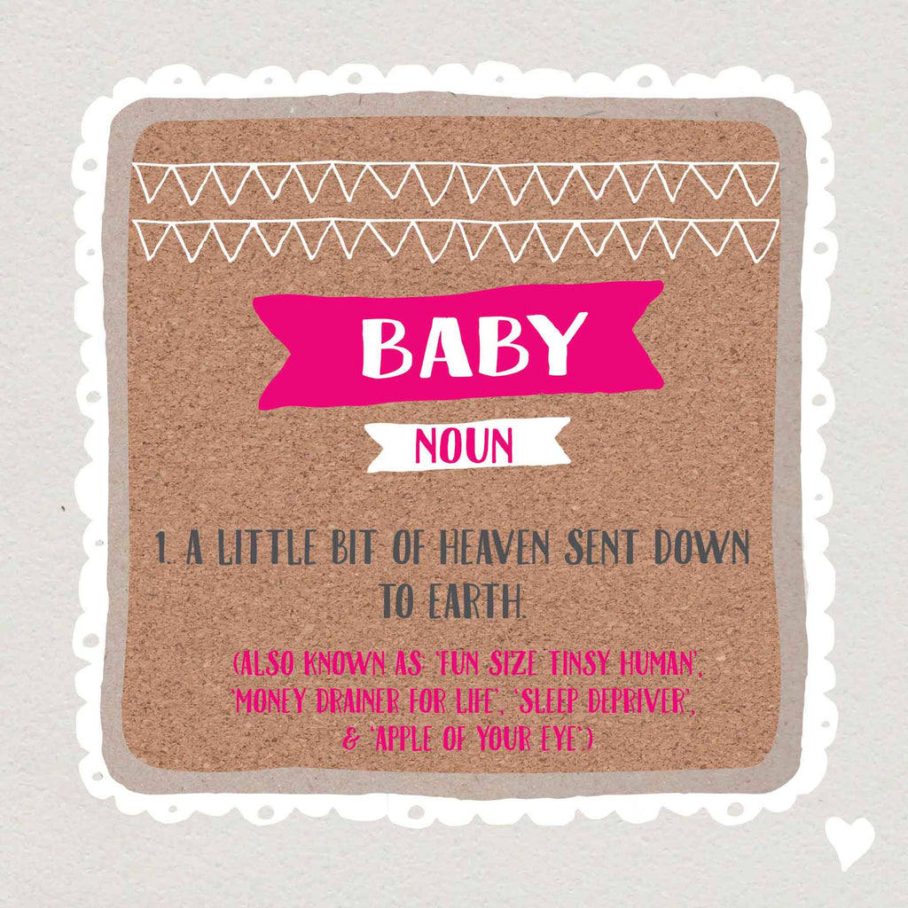Baby Girl Definition Card