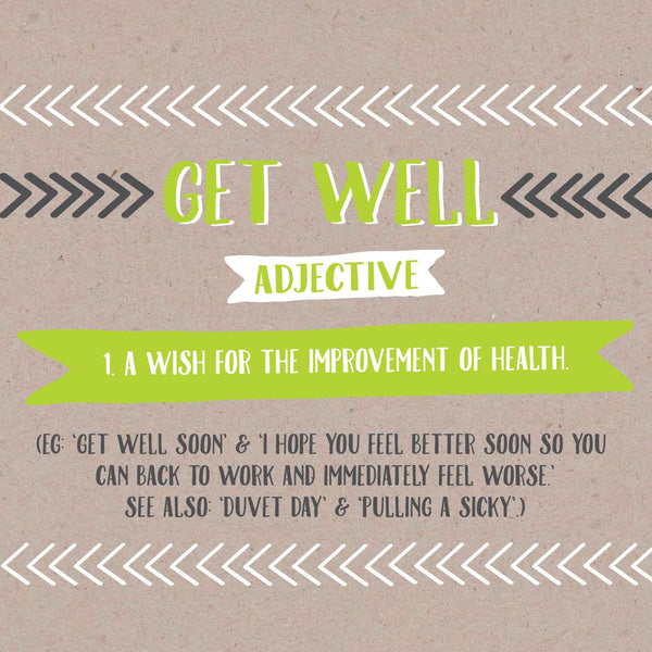 Get Well Definition Card