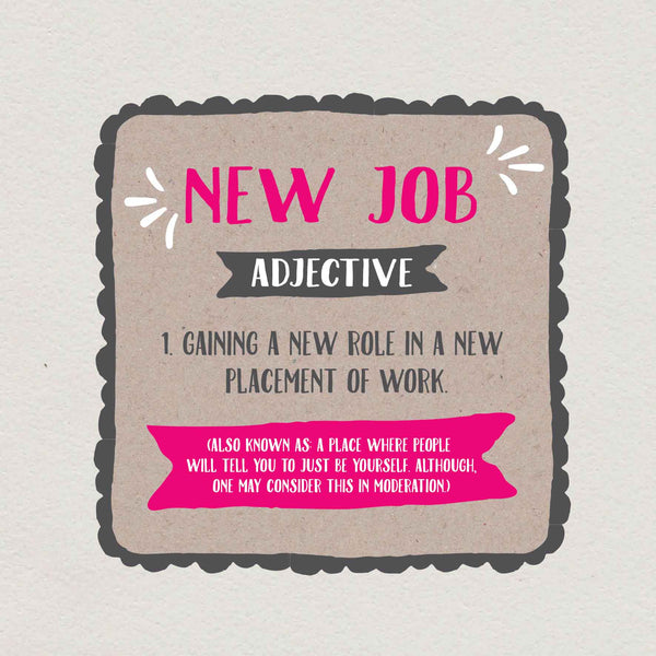 New Job Definition Card
