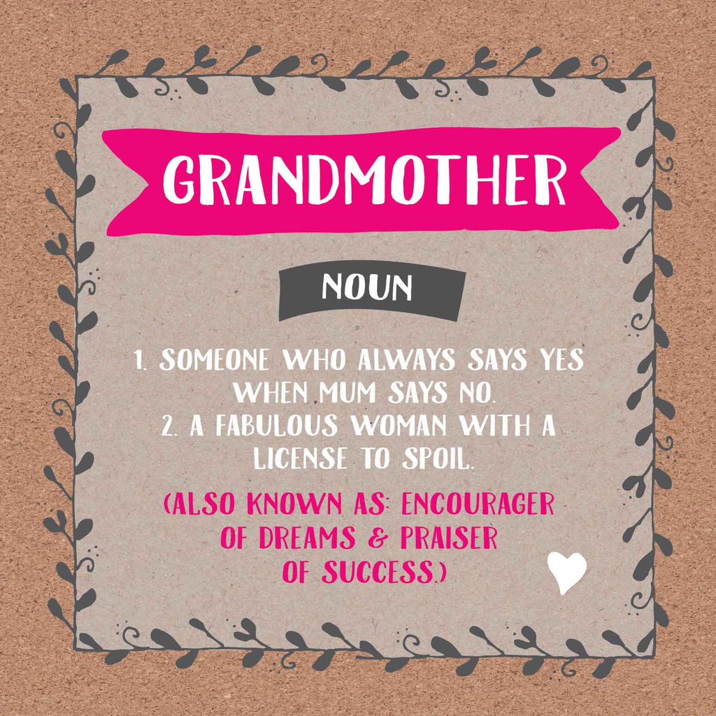Grandmother Definition Card