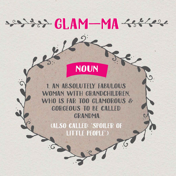 Glam-Ma Definition Card