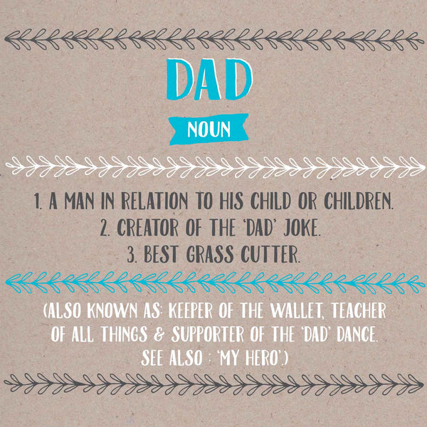 Dad Definition Card