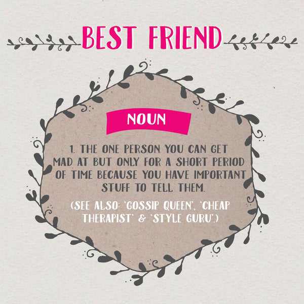 Best Friend Gossip Definition Card