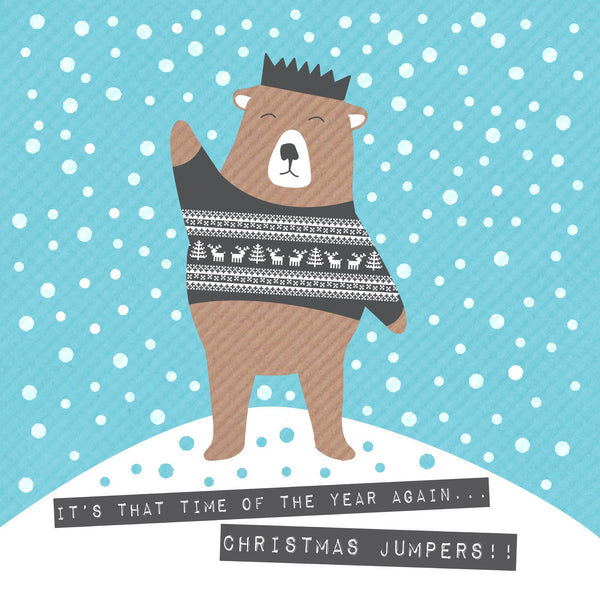 Bear In Christmas Jumper