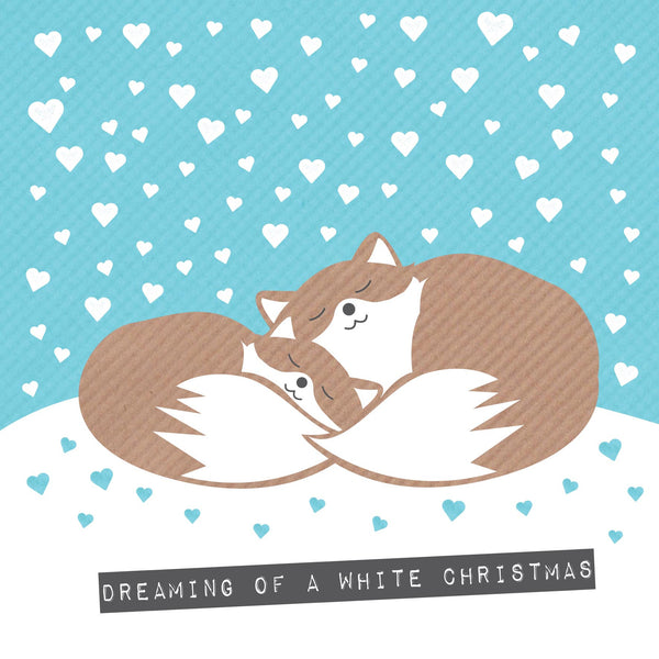 Foxes Dreaming Of A White Christmas