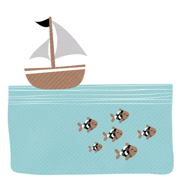 Boat & Fish Card