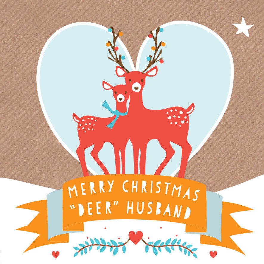 Deer Husband Card