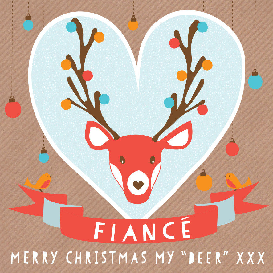 Deer Fiance Card