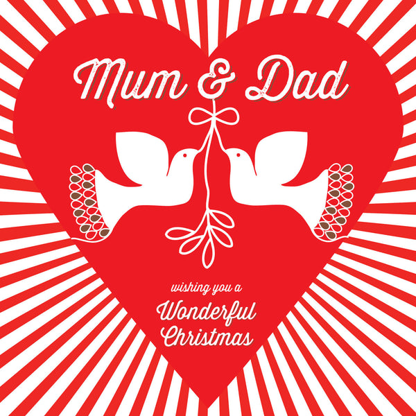 Mum & Dad Doves Christmas Card
