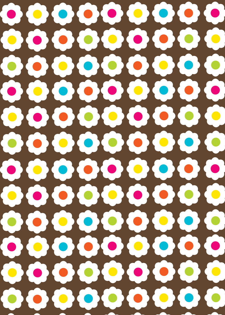 Brown Daisy Chain Giftwrap