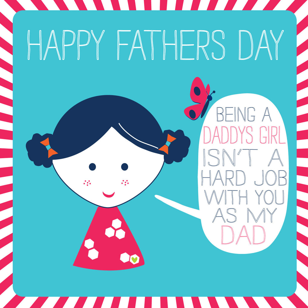 Daddy's Girl Fathers Day Card