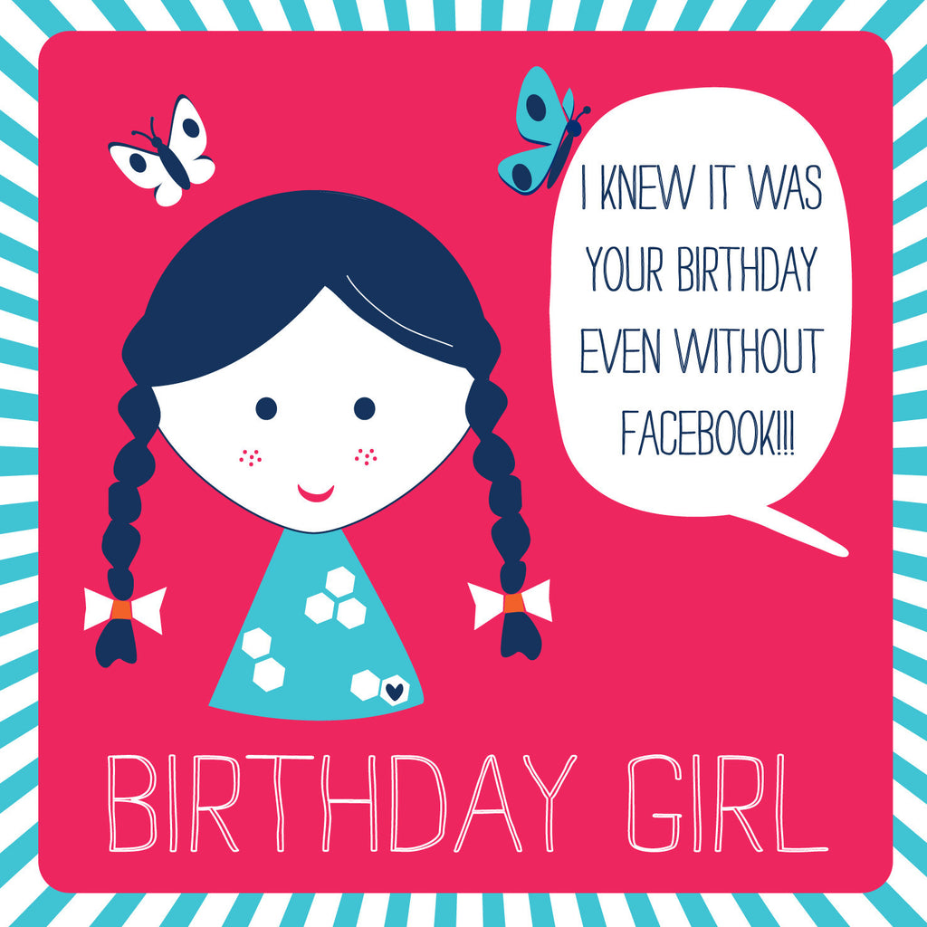 Facebook Birthday Girl Card