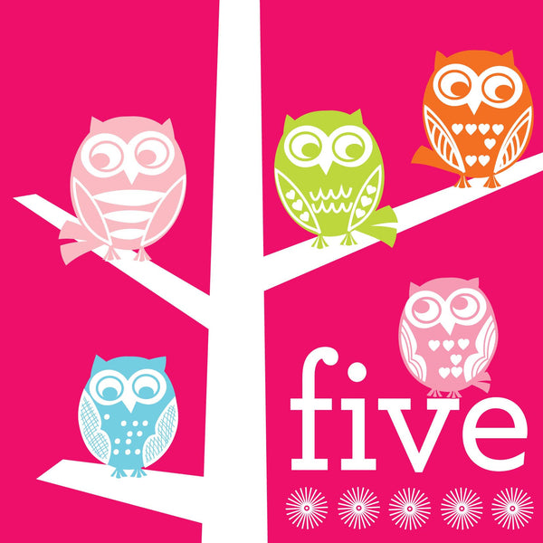 Five Girls Birthday Card