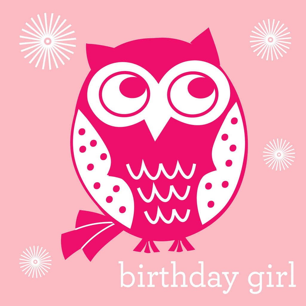 Birthday Girl Owl Card