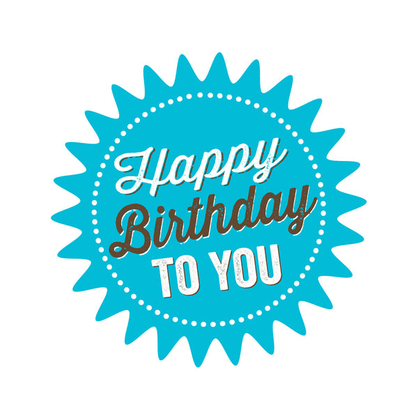 Blue Star Happy Birthday Pressed Card