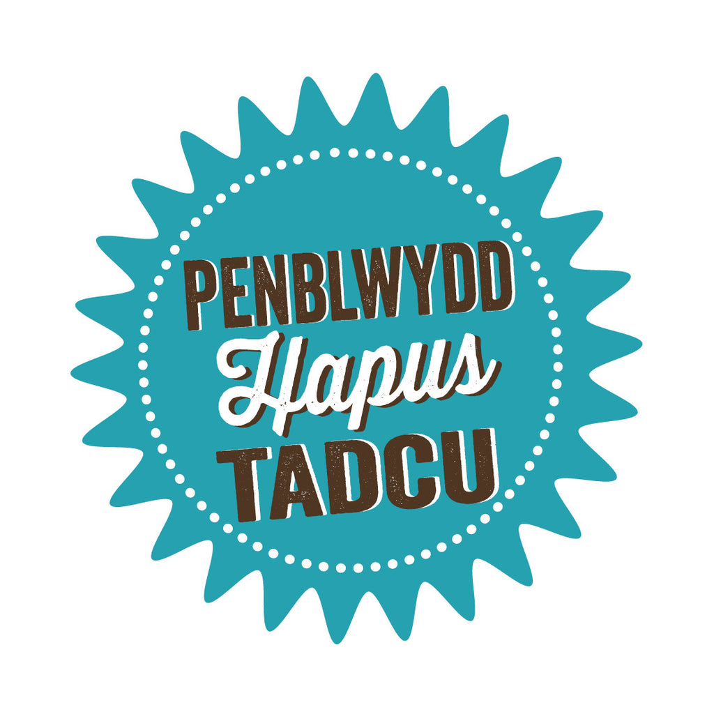 Welsh Pressed Happy Birthday Grandpa Card/ Penblwydd Hapus Tadcu