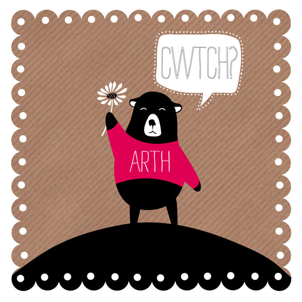 Welsh Bear Hug Card/ Cwtch