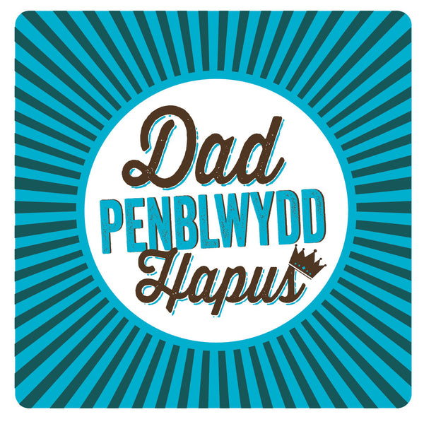 Welsh Pressed Happy Birthday Dad Card/ Dad Penblwydd Hapus