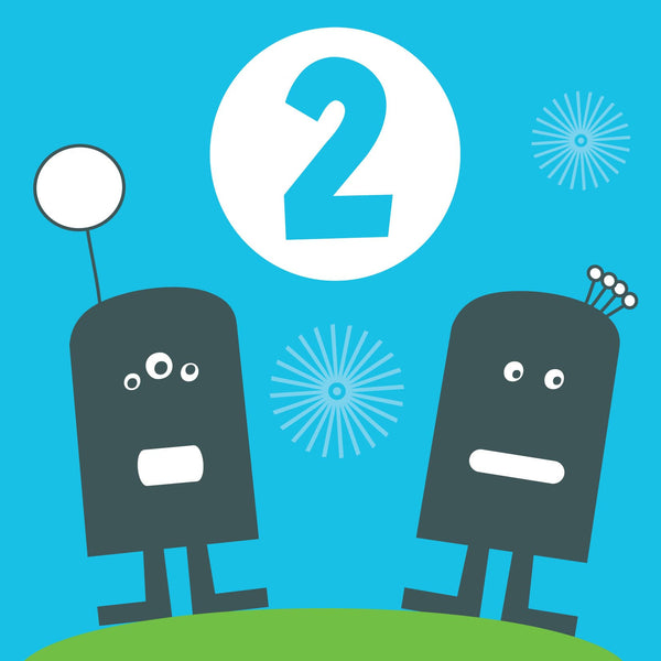 Two Boys Birthday Card