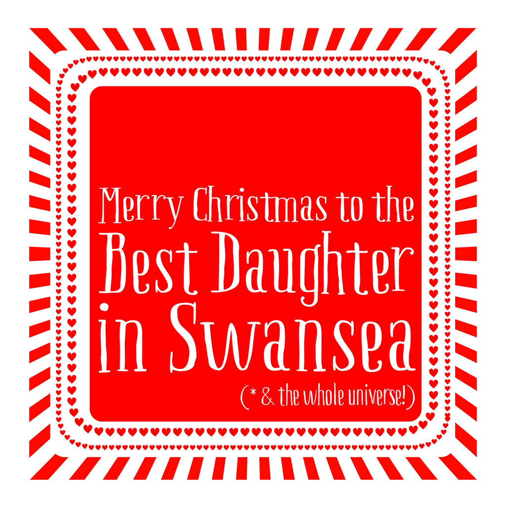 Best Daughter Heart Christmas Location Card