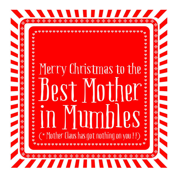 Best Mother Snowflake Christmas Location Card