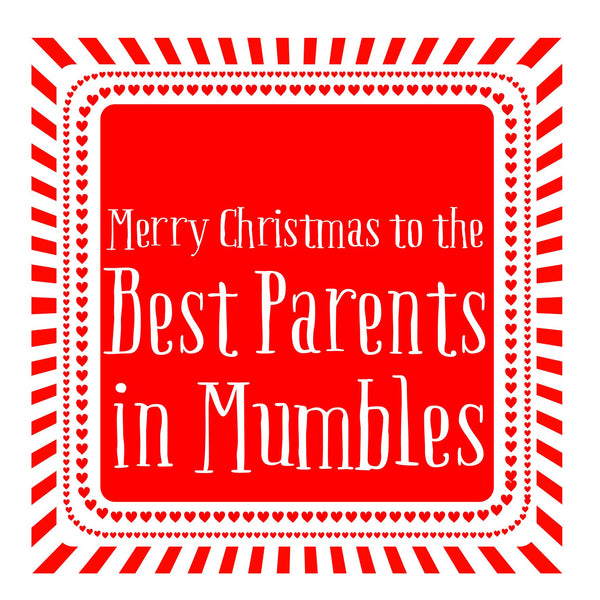 Best Parents Heart Christmas Location Card