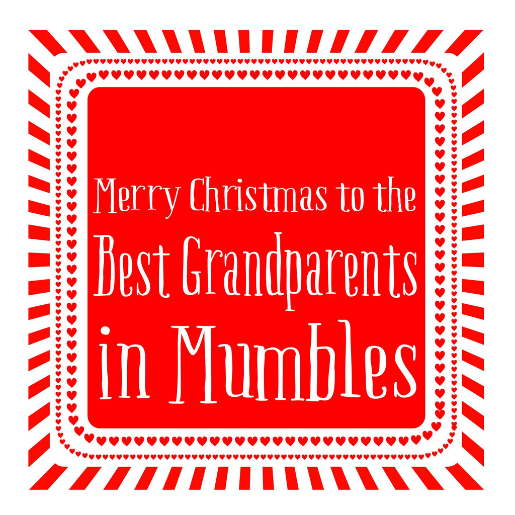 Best Grandparents Heart Christmas Location Card