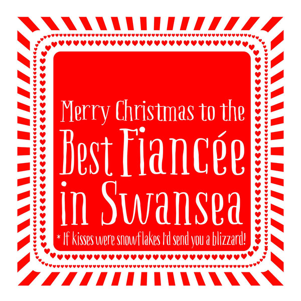 Best Fiancee Heart Christmas Location Card