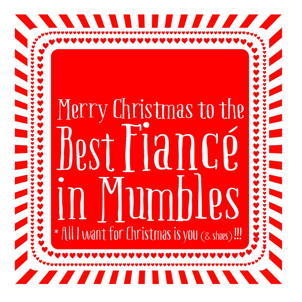 Best Fiance Heart Christmas Location Card